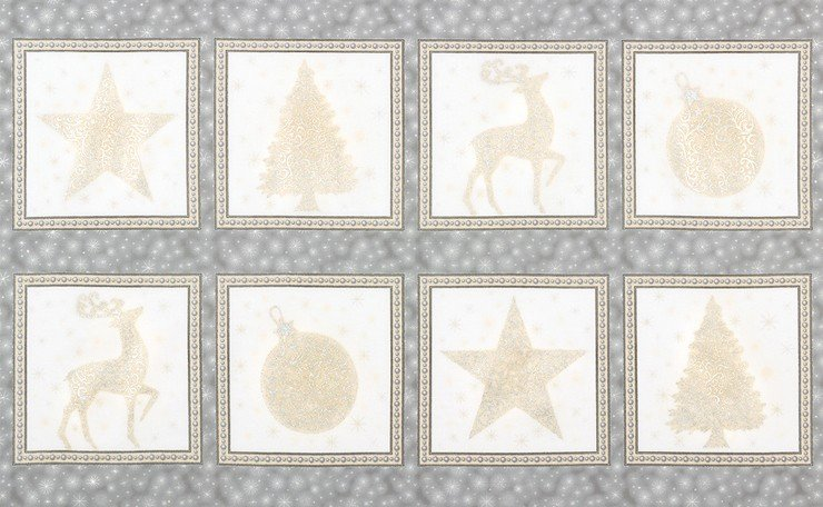 SRKM-16588-186 Winter's Grandeur Blocks silver