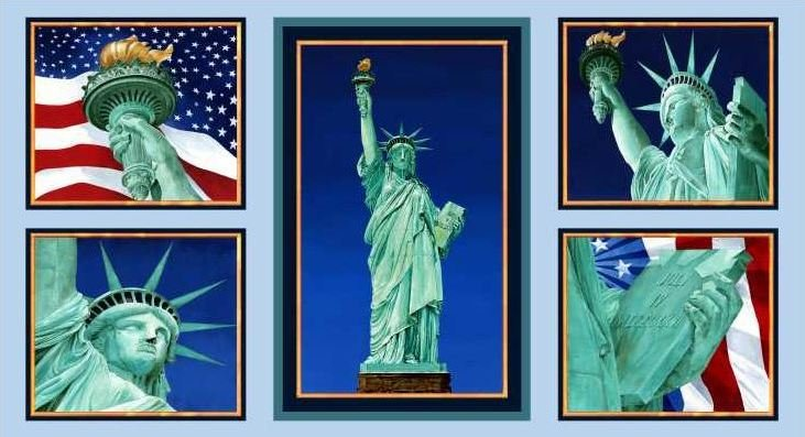 3882-60433-20 Statue of Liberty Block Panel