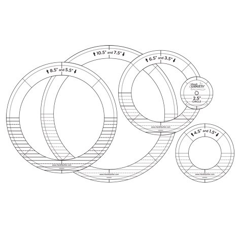 Template Set - HQ Ring Templates SILVER SET