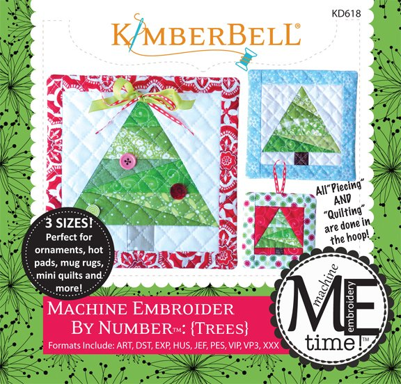 Trees Machine Embroidery by Number Patterns CD