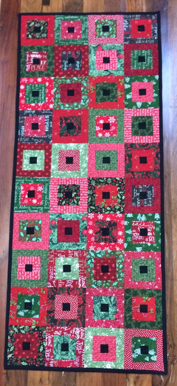 Square in a Square Table Runner Quilt Kit - RRQ Original