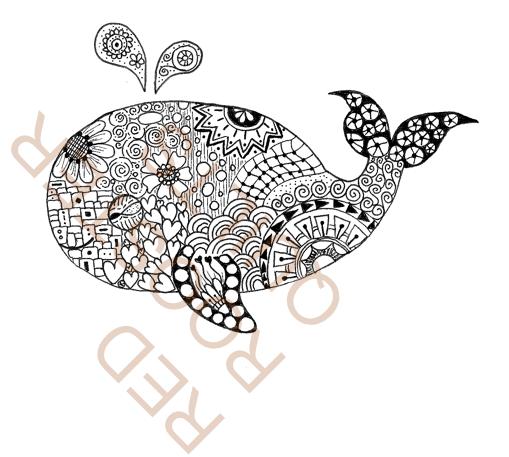 Zentangle Inspired Whale Swatch - RRQ Original