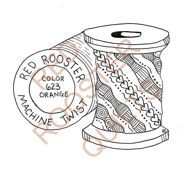 Zentangle Inspired Thread Swatch - RRQ Original