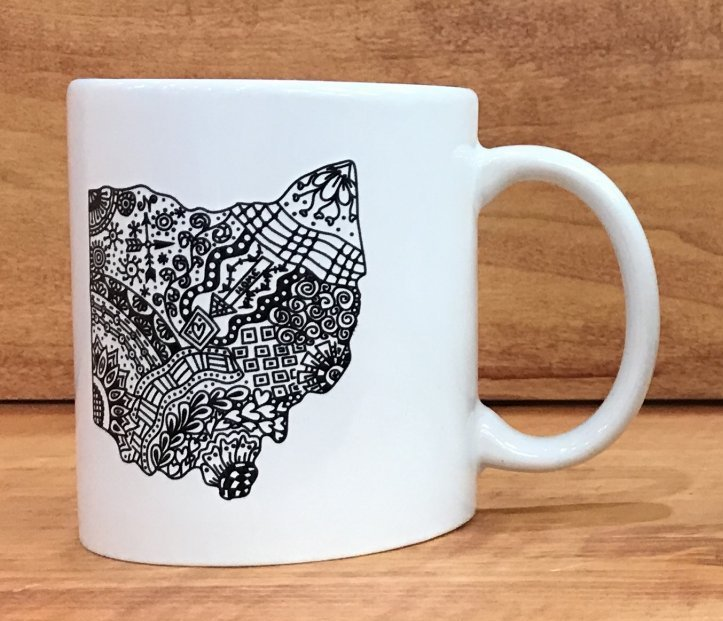 Zentangle Inspired Mug (choose from 5 designs)