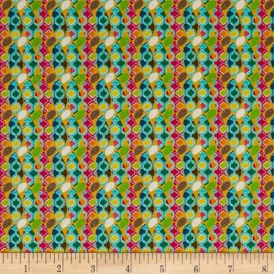 STOF France Le Quilt Ile Aux Oiseaux Abstract Multi Fabric