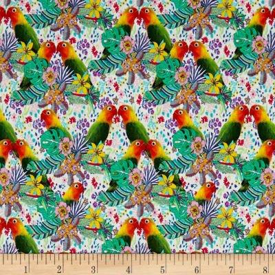 STOF France Le Quilt Ile Aux Oiseaux Toucan Multi Fabric