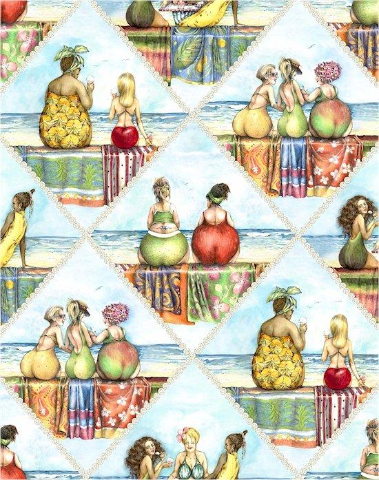 FRUIT LADIES II 1517 BLUE
