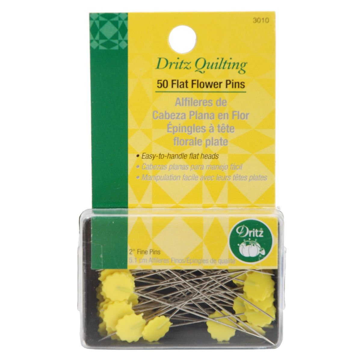 50 Flat Flower Pins - Dritz