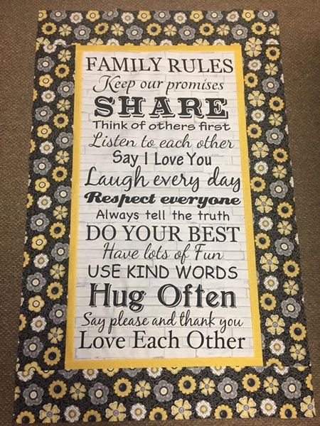Family Rules Kit - Incl Backing