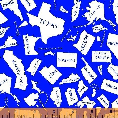 Stars & Stripes Blue Map