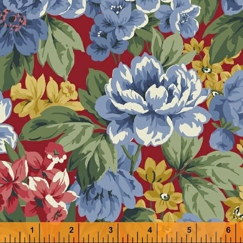 Newport Flannel - Red Large Floral