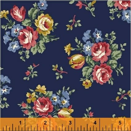 Newport Flannel - Navy Small Floral