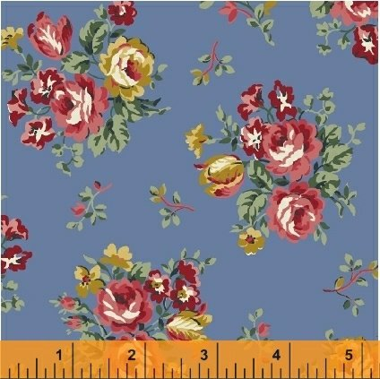 Newport Flannel-Blue Small Floral Flannel