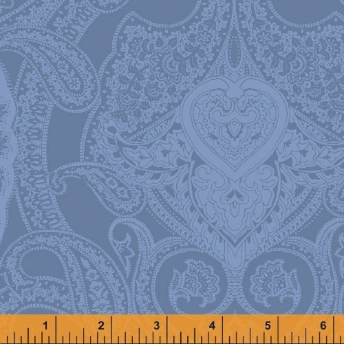 Newport Flannel - Blue Monotone Paisley