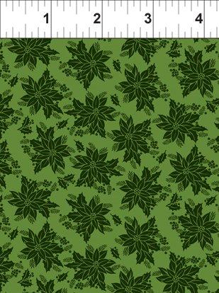 Winter Twist - Tonal Floral Green