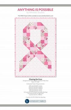 Still Chasing The Cure Quilt Kit