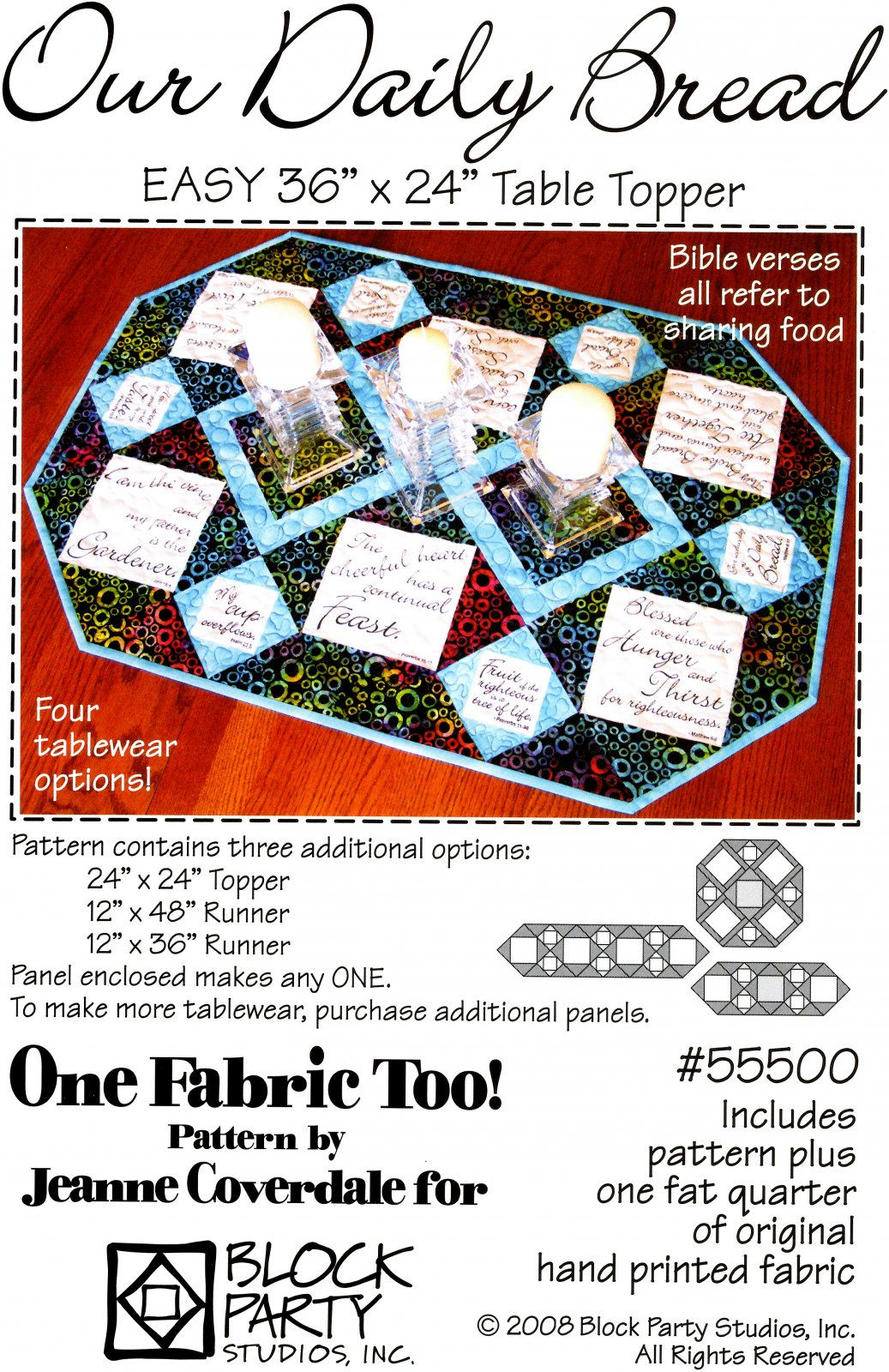 Our Daily Bread Pattern with Table Graces Panel