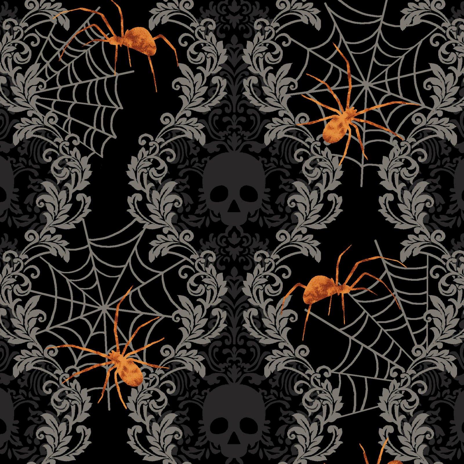 Spooky Damask Stripe Black