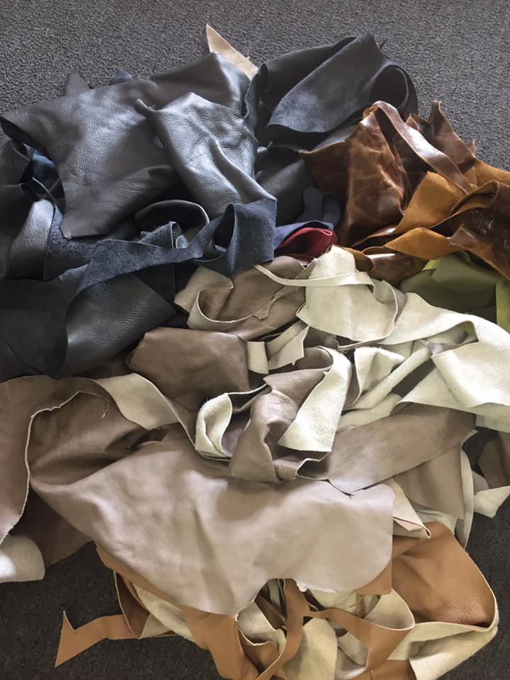 Leather Remnants 10-12lbs