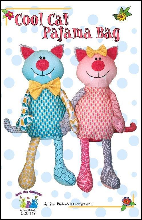 Cool Cat Pajama Bag