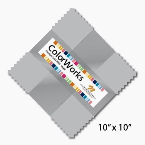 Northcott colorworks 10 Square - Gray