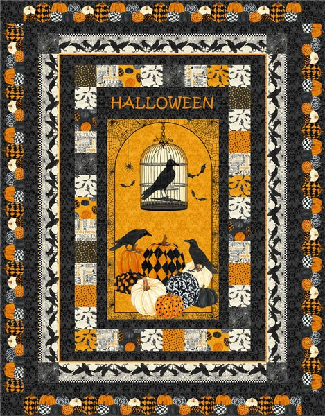 Raven's Halloween Quilt Kit -Twin