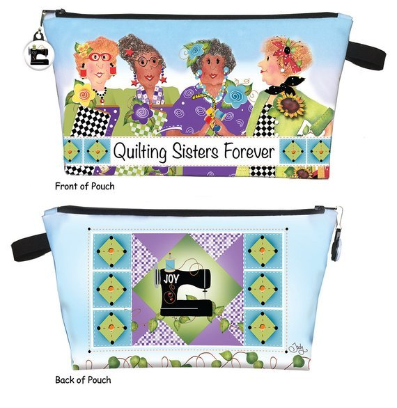 Pre-printed Zippered Pouch Kit - Quilting Sisters Forever