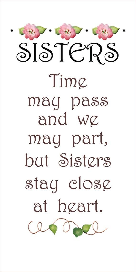6 x 12 Fabric Art Panel -Sisters, Time may pass.