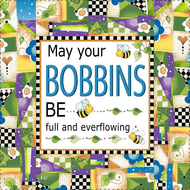 Bobbins Blessing - 8 Fabric Art Panel