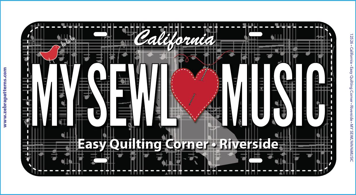 RxR License Plate- My Sewl Loves Music
