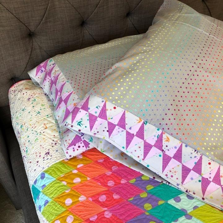 Tula Pink Gemstones Pillowcases Kit - King Size