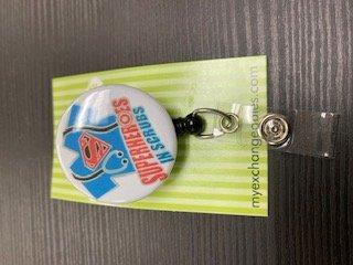 Scrubs Badge Reel Retractable