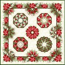 One Fabric Kaleidoscope Wallhanging Pattern
