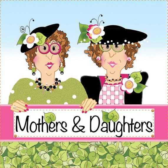Mothers & Daughters - 6 Fabric Art Panel