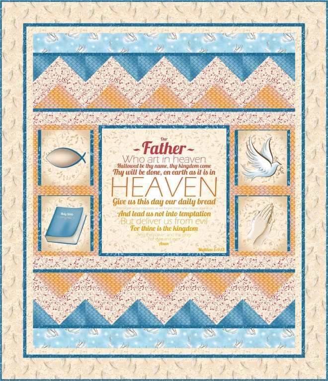 Our Father Quilt kit 2- Blue