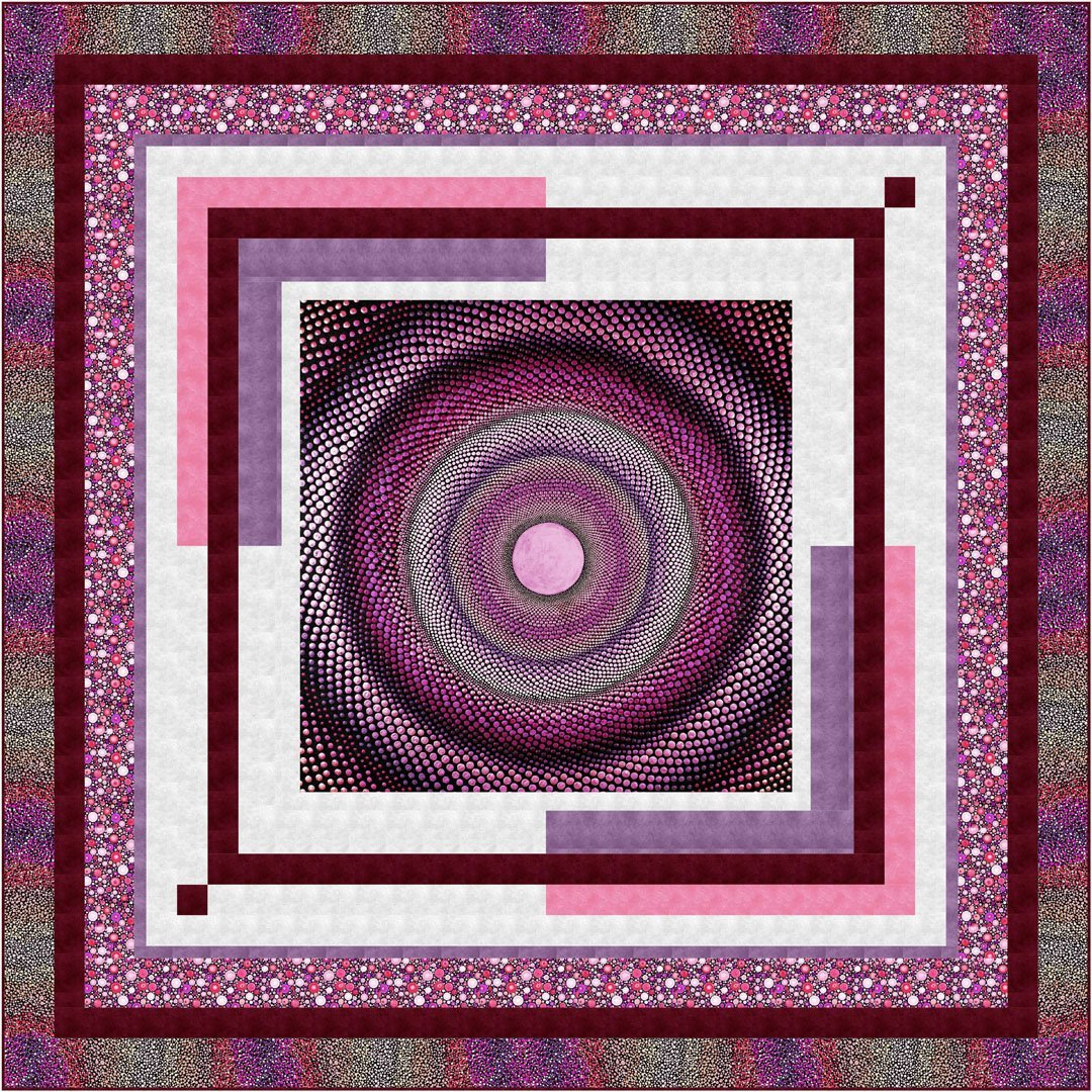 Mindful Mandalas Quilt Kit - Pink