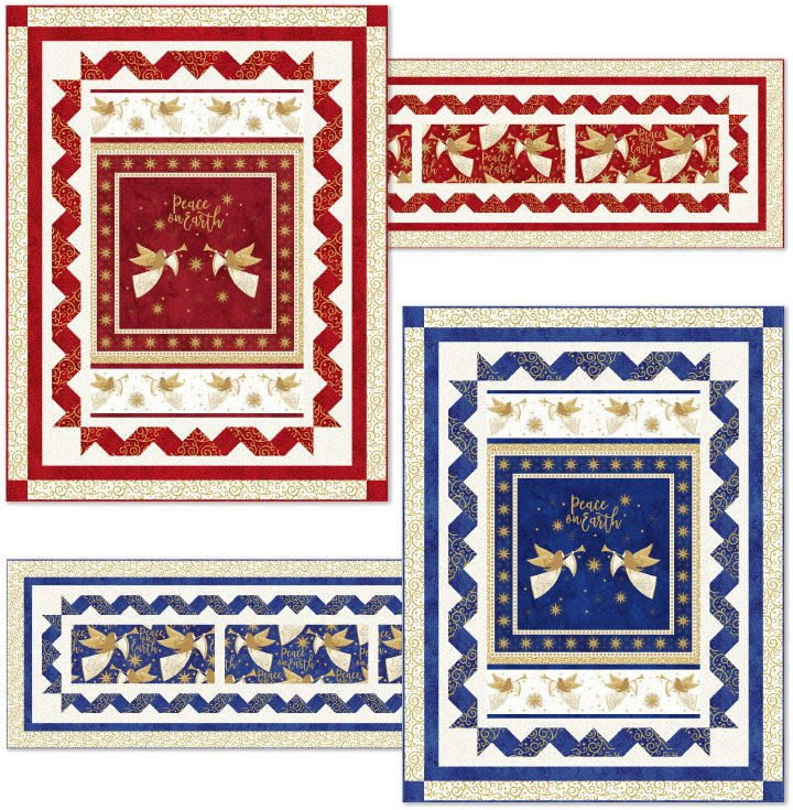 Angel Chorus Wall Quilt Kit - Red