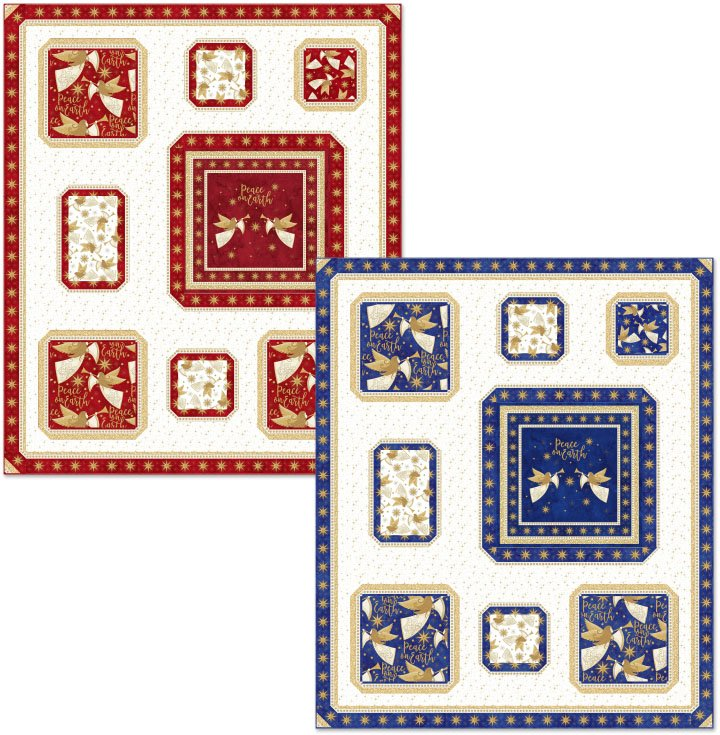 Christmas Collage Quilt Kit - Red
