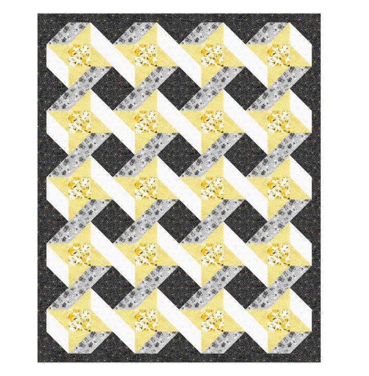 Urban Twist Quilt Kit - 64x79