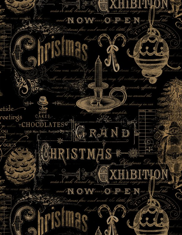 Christmas in the Wildwood Ephimera Black