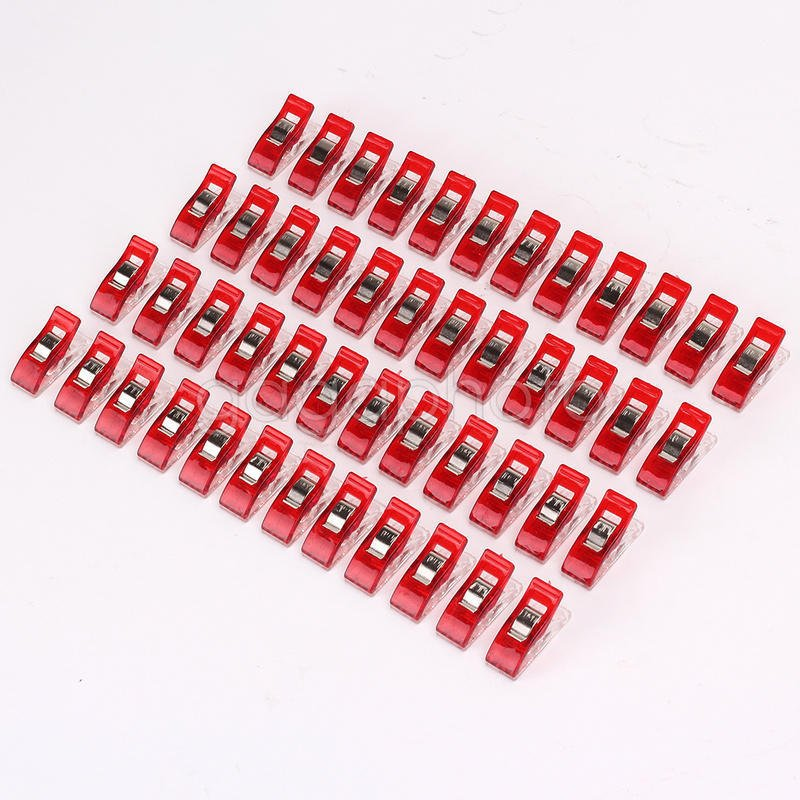 50 Fabric Clips for Quilting/Sewing - RED