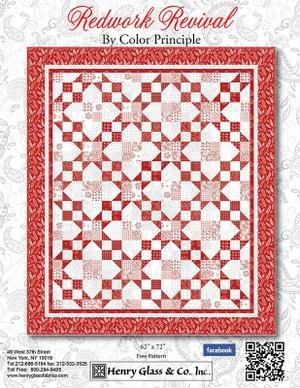 Redwork Revival Quilt Kit One