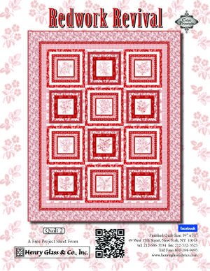 Redwork Revival Quilt kit 2 with Panel