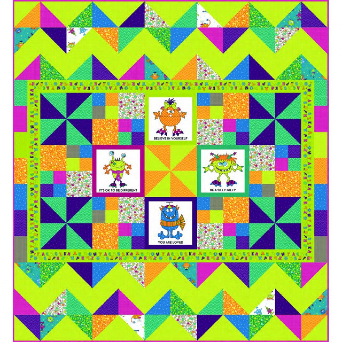 Silly Gilly Patchwork Quilt Kit