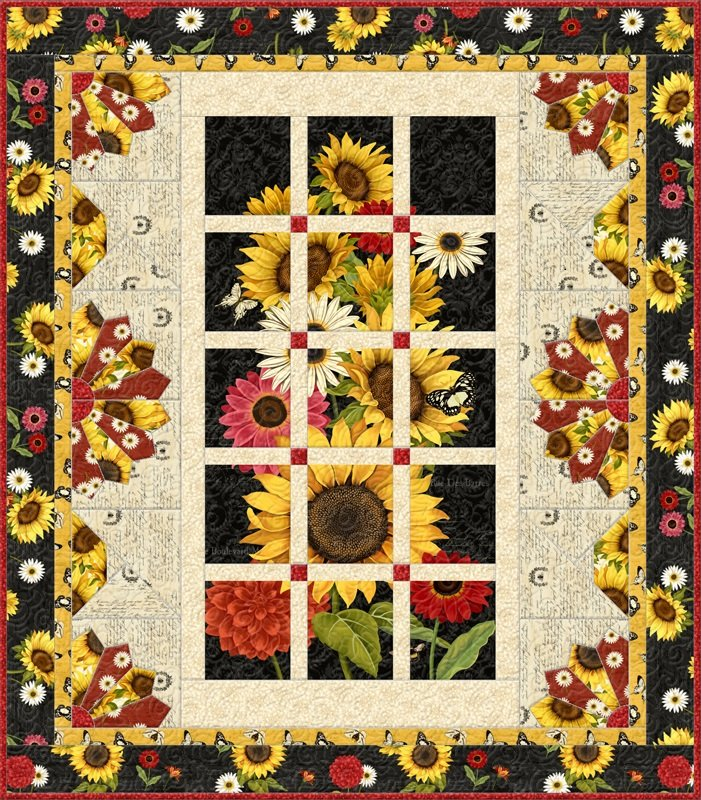 Sunset Blooms Panel Kit