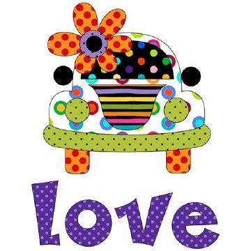 Love Bus Applique' - 1170