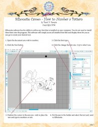 Silhouette Camero how to add numbers to a drawign