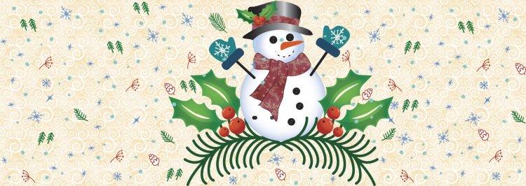 p3 designs snowman banner