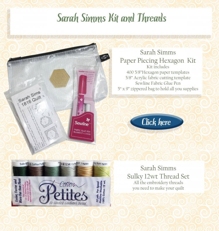 Sarah Simms kit and threads