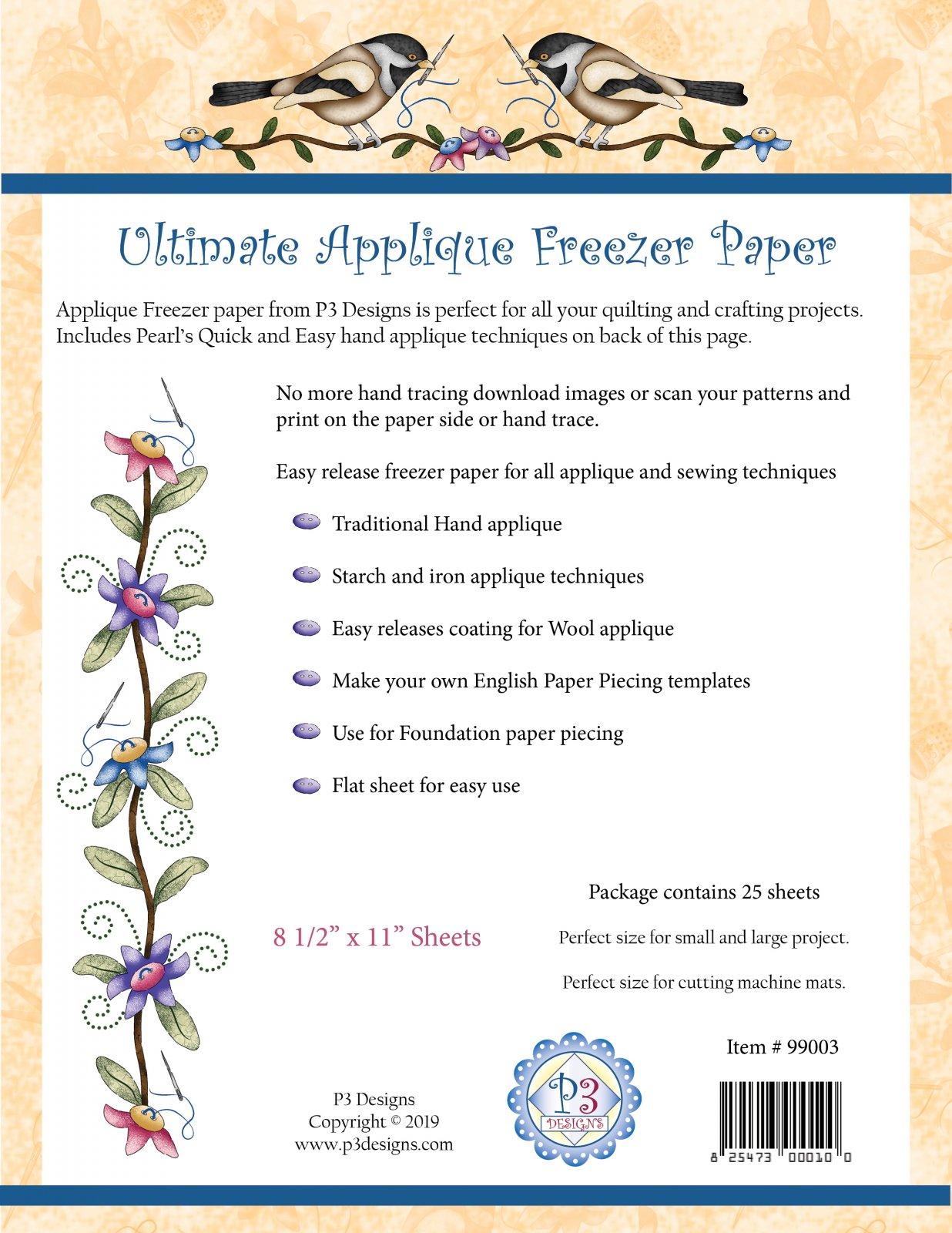 99003 Ultimate Applique Template Paper 8.5 x 11